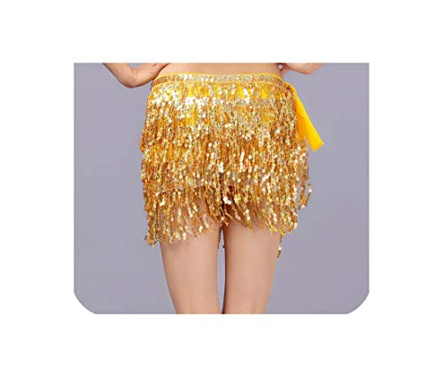 Fat Sheep 4 Layer Tassels Belly Dance Waist Chain Belt Shiny Hula Stage Show Accessories Bellydance Costume Disfraces Infantiles Prop,10,One Size