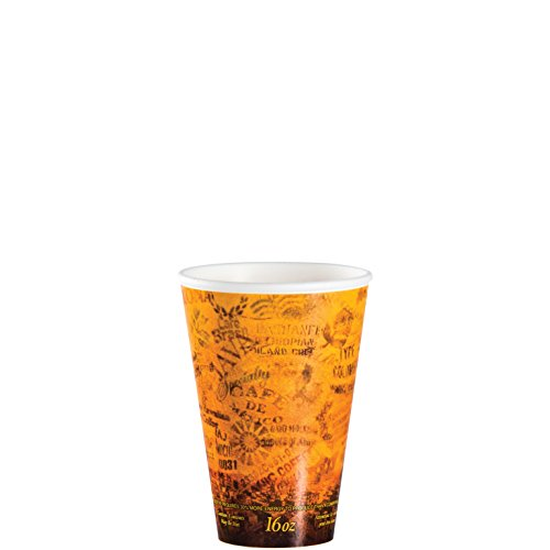 Dart 16U16ESC Fusion 16 oz Escape Design Printed Foam Cup