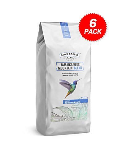 """Jamaica Blue Mountain Coffee Blend – """"Medium"""" Roasted Beans (16oz.) (Pack of 6) by BAWK Coffee (Image #9)"""