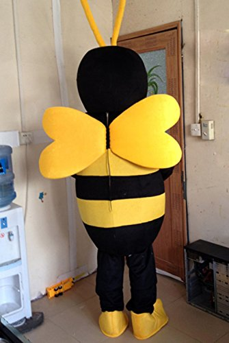 5abc292eb Bee Mascot Costume Bee Costume Adult Halloween Fancy Dress (XX-Large) by  Huiyankej