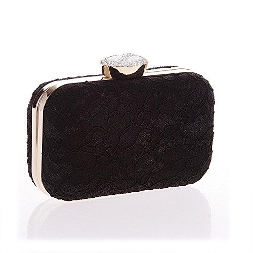 Bolso de embrague para mujer clutch negro