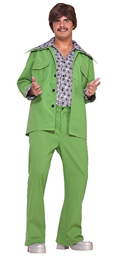70s Leisure Suits (Leisure Suit 70S Green Halloween Costume - Most Adults)