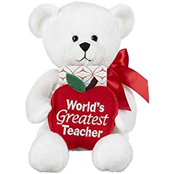 Ganz Worlds Greatest Teacher Gift Card Plush Bear