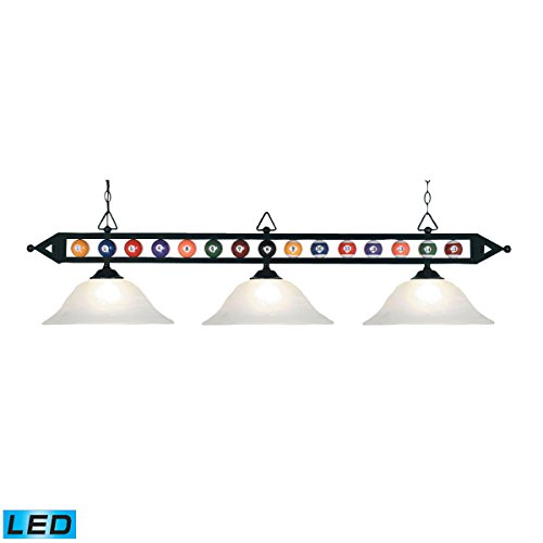 Elk Lighting Designer Classics 3 Light LED Billiard Light in Black