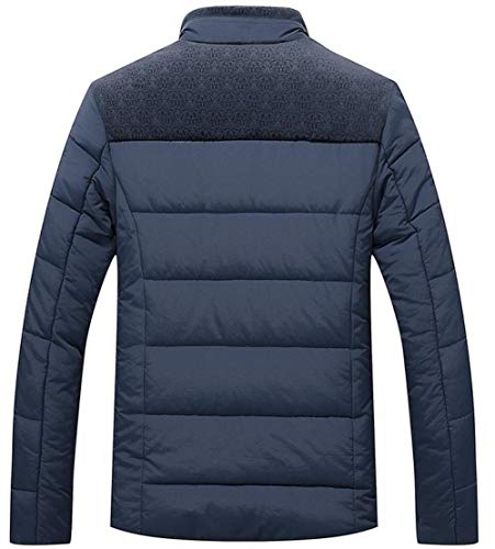 Doublure Hommes Velours Mode Matelassée Chaud Parka Extérieure Classique Épaissir Fgyyg Col bleu Debout Manteau Plus Veste Hiver Loisirs Wx1688 6xCEOwdq
