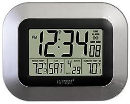 La Crosse Technology WS-8115U-S Digital Wall Clock with Indoor and Outdoor Temperature