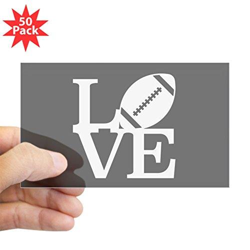 CafePress - Love Football - Sticker (Rectangle 50 pk) by CafePress