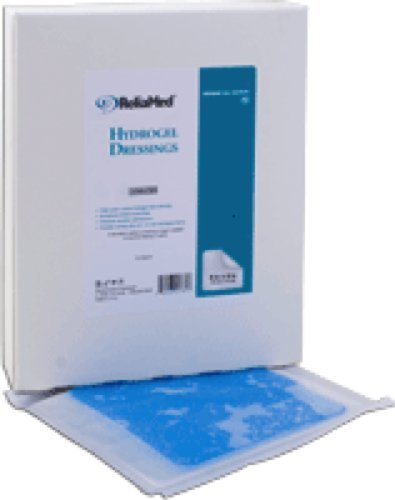 ReliaMed Sterile Latex-Free Non-Adherent Hydrogel Sheet Dressing 4 x 4 (10/Box) (Box of 10 Each) by ReliaMed Hydrocolloid & Foam