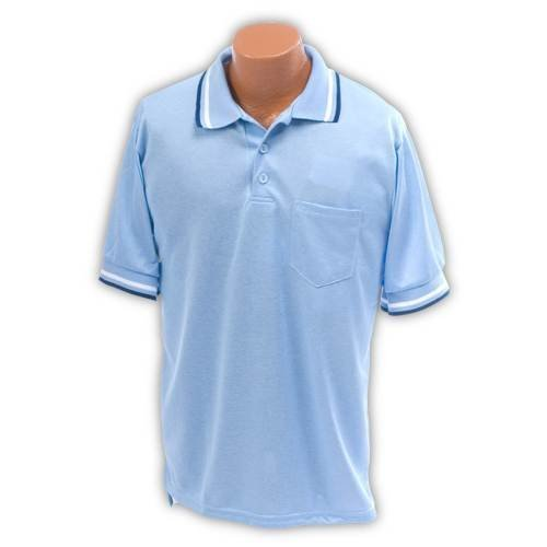 XXL Umpire Shirt in Light Blue Polyester-Cotton Blend by Athletic Connection