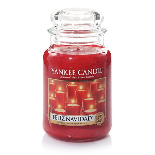 (Yankee Candle Feliz Navidad Large Jar Candle, Festive Scent )