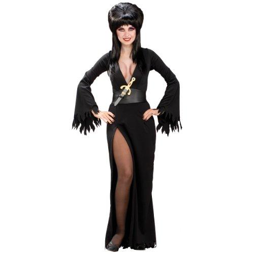 Costume Large Elvira (Secret Wishes Women's Elvira Mistress Of The Dark Adult Costume, Black,)