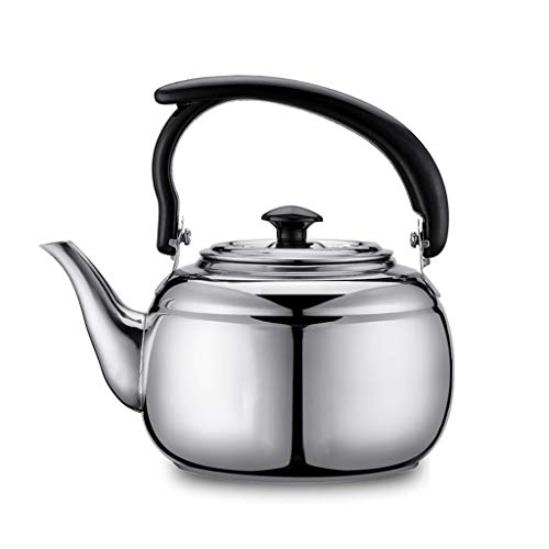 FJH Kettle Kettle Alcohol Stove Special Small Pot Thick Stainless Steel Pot Teapot Kettle Teahouse Matching Pot1L