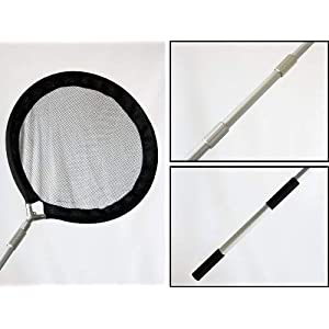 Koi Net with 30 Inch (80cm) Diameter Pan & 96 Inch (2.4m) Handle, Water Garden Koi Fish Pond Skimmer Net for Koi and Debris 5
