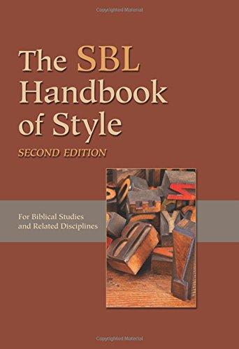 Sbl Handbook Of Style