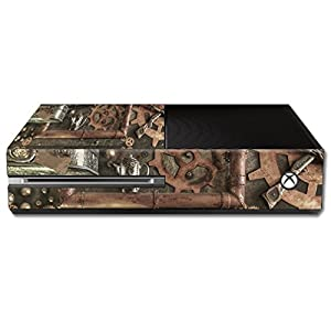 MightySkins Skin Compatible with Microsoft Xbox One – Steam Punk Room | Protective, Durable, and Unique Vinyl Decal wrap…