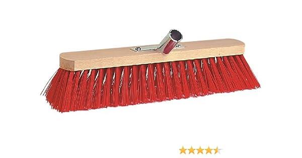 Saalbesen 100 cm Elaston rojo con metal soporte de mango