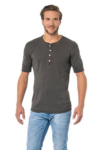 Herren Shirt 1/2 - Jacke 1/2 Arm Karl-Heinz Schiesser Revival khaki 131-113-701