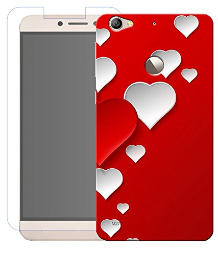 combo of love symbol hd uv printed mobile back cover and tempered