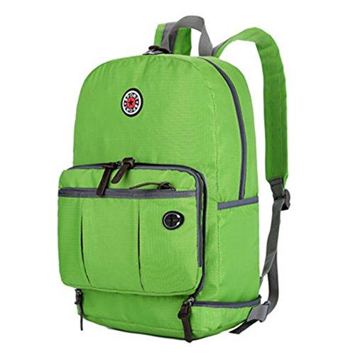 Beatsport - Bolso mochila  de Nylon para mujer Negro A-purple A-green