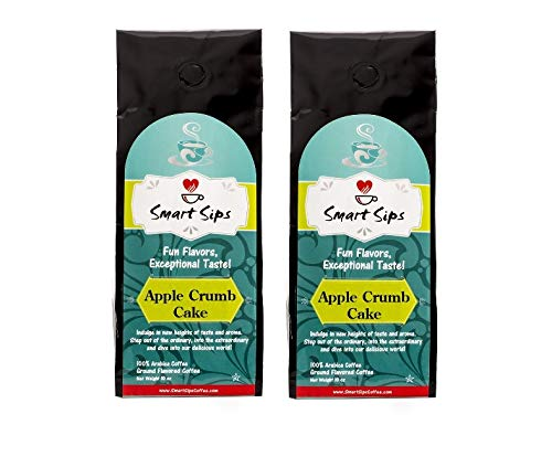 Smart Sips, Apple Crumb Cake Ground Flavored Coffee, 20 Ounce