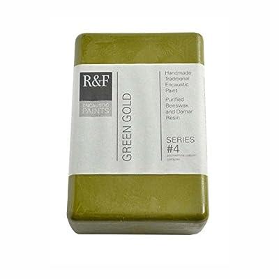 R&F Encaustic 333ml Paint, Green Gold