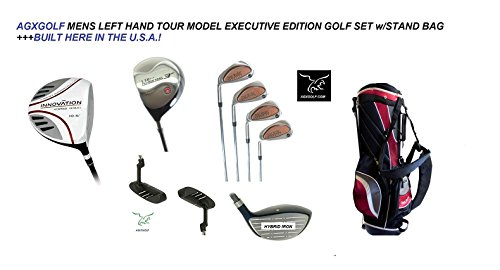 AGXGOLF Men's Left Hand Tour Edition Executive Golf Club Set wBag; Callaway Style Irons in Cadet, Regular or Tall Length; Free Putter Fast Shipping: Built in the USA!