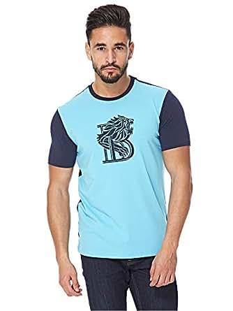 Balmain Blue Round Neck T-Shirt For Men