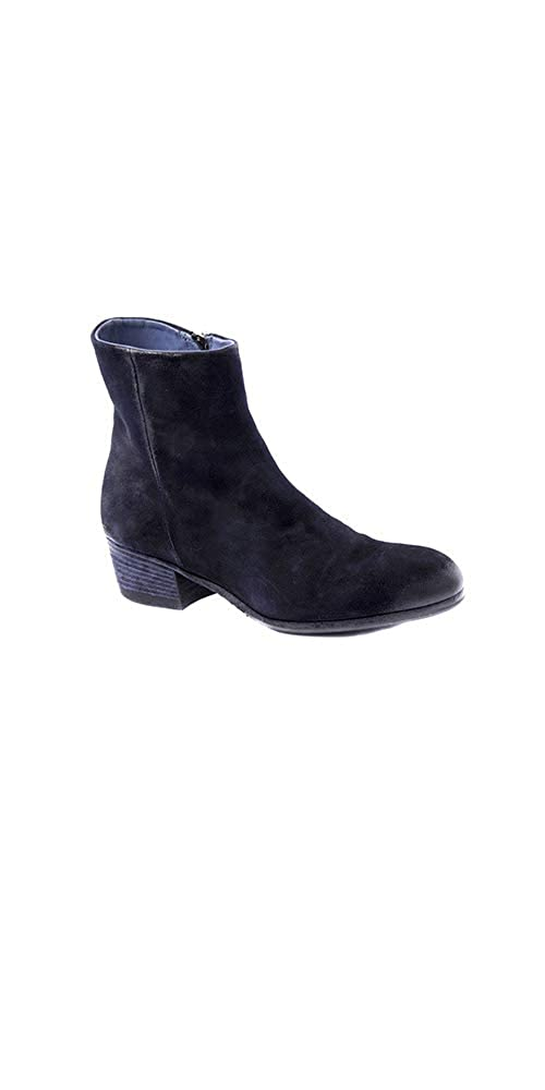Navy Pantanetti Women's Ankle Boot 2 inches Heel in Navy Suede