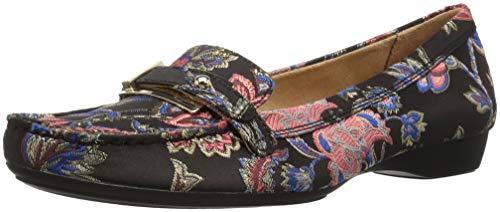 Naturalizer Women's Gisella Loafer Flat Black Brocade