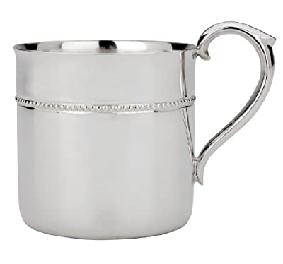 Reed & Barton Silver Plate Beaded Baby Cup from Reed & Barton