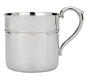 Amazon Com Reed Amp Barton Silver Plate Beaded Baby Cup