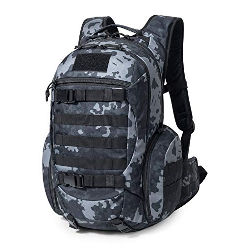 Mardingtop 28L Tactical Backpacks Molle Hiking daypacks for Camping Hiking Military Traveling Motorcycle (28L-Black Multicam)