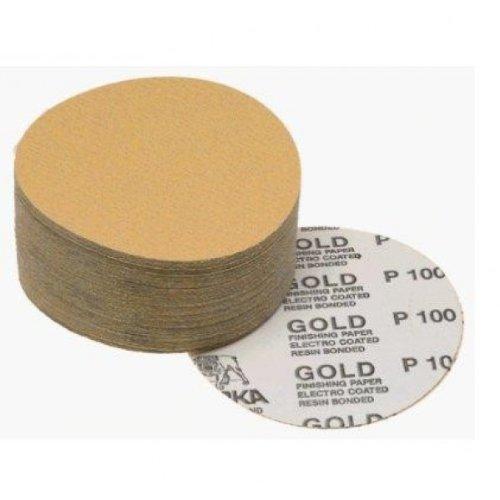 MIRKA GOLD 23-332-400 5'' Sticky Back PSA Sanding Discs 400 Grit, 100 Ct Box