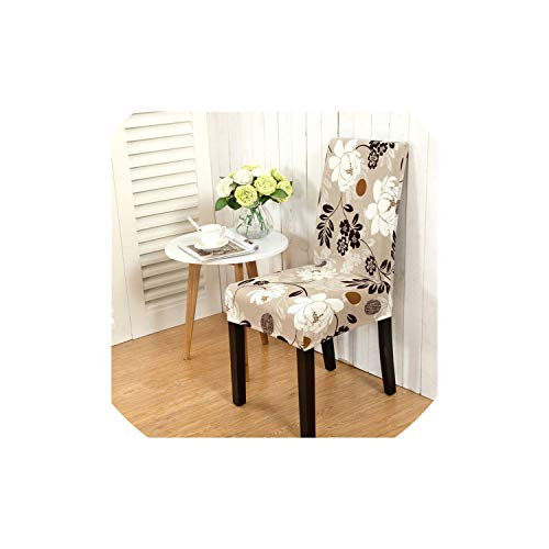 pleasantlyday Elastic Stretch Dining Chair Covers Floral Printing Flexible Removable Slipcover,Color 13,1pc Chair -