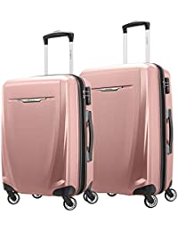 Winfield 3 DLX Hardside Expandable Luggage with Spinners, Rose, 2-Piece Set (20/25)