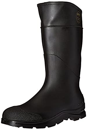 """64055869 16"""" PVC Economy Boots Lugged Outsole Steel Toe Size 15 Black"""