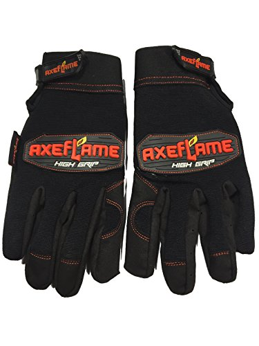 High Grip Mechanic Utility Gloves,Wrist Strap Cut Resistant Synthetic Leather Palms Protective Knuckles Great for Airsoft Outdoor Construction Work Motorcycle Flex Grip (Extra Large, black)
