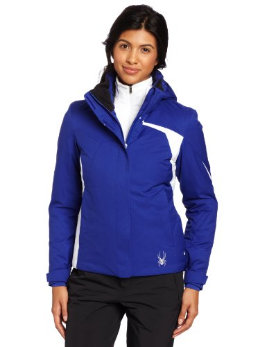 Amp Jacket (Spyder Women's Amp Jacket, Blue My mind/White, 14)