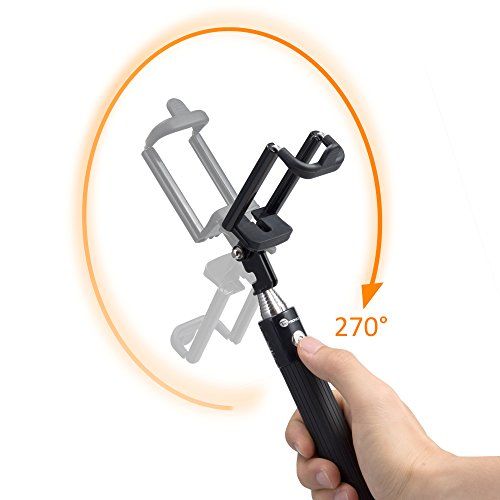 taotronics selfie stick with built in remote shutter bluetooth pairing 31 inch extendable arm. Black Bedroom Furniture Sets. Home Design Ideas