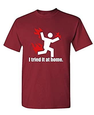 The Goozler I Tried IT at Home Science Project Funny - Mens Cotton T-Shirt