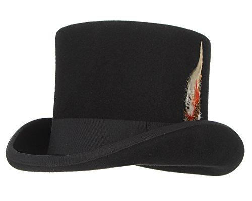Gemvie Women Homburg Hat Wool Charles Firm Felt Godfather Cap ()