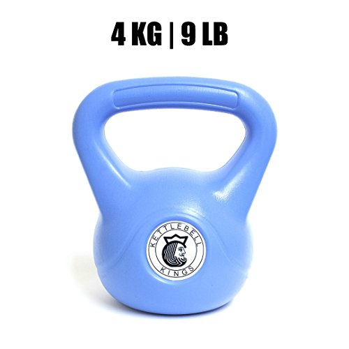 Kettlebell Kings Plastic Designed for Home Use and Starter Exercises, 4 kg, 9 lb.