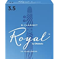 Royal by D'Addario Bb Clarinet Reeds, Strength 3.5, 10-pack