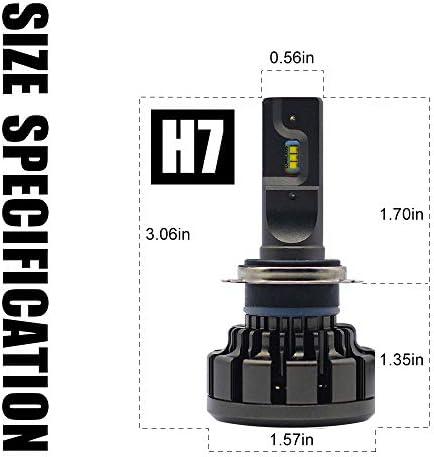 HIKARI Ultra H7 LED Bulbs Conversion Kit, Prime Zes LED chips, Halogen Replacement 6K Cool White Foglight