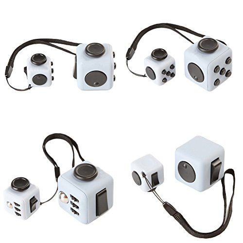 FIDGET DICE Relieves Stress and Anxiety Attention Toy Set of 2 - 3.3cm for Adults 2.2cm With Keychain for Children (Set 10) - 2