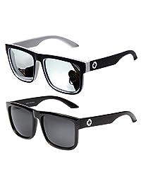 Jee Designer vintage retro oversized men women wayfarer sunglasses mirrored 81016