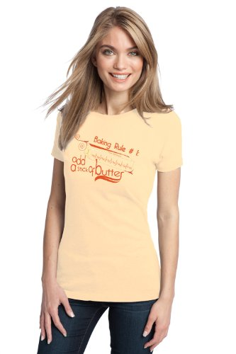 RULE #1: ADD BUTTER Ladies' T-shirt / Cute Baking, Funny Cooking Tee Shirt