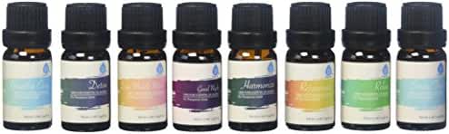 Pursonic 100% Pure Essential Aromatherapy Oils Gift Set-8 Pack - 10ML (Blends)