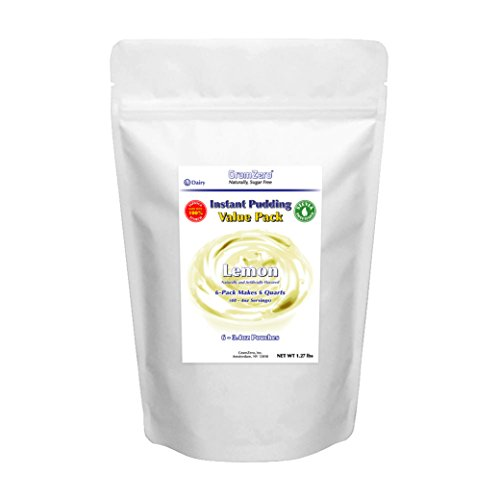 - GramZero Lemon Pudding Mix, 6/1 QT Yield (Makes 48-4 oz servings), Stevia Sweetened, SUGAR FREE