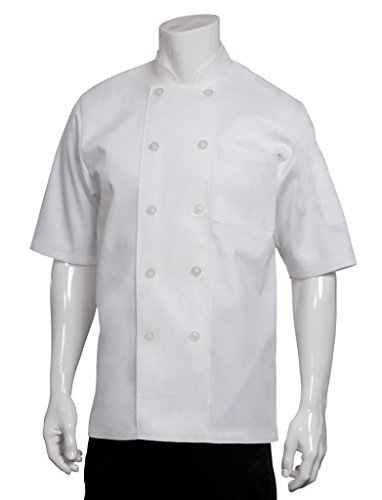 Chef Works PCSS Volnay Short Sleeve Basic Chef Coat, White, 3X-Large by Chef Works